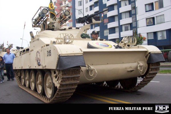"Peru AMX-13-105 Tank upgrade the AMX-13 tank Alacran or ""Scorpion"" Tank Destroyer"