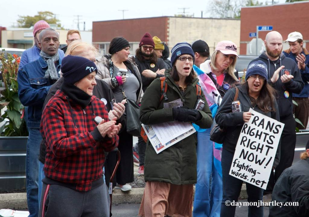 Detroit Trans Rights demonstration