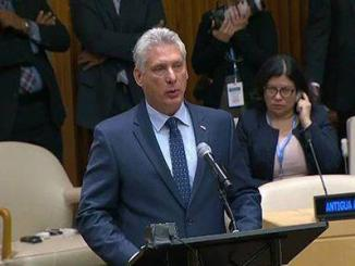 President Miguel Díaz-Canel Bermúdez addresses the UN General Assembly
