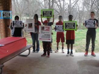 Black Lives Matter.Kionte Spencer.