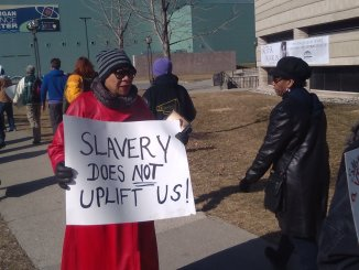 Wright Museum Protest 03-12-2019