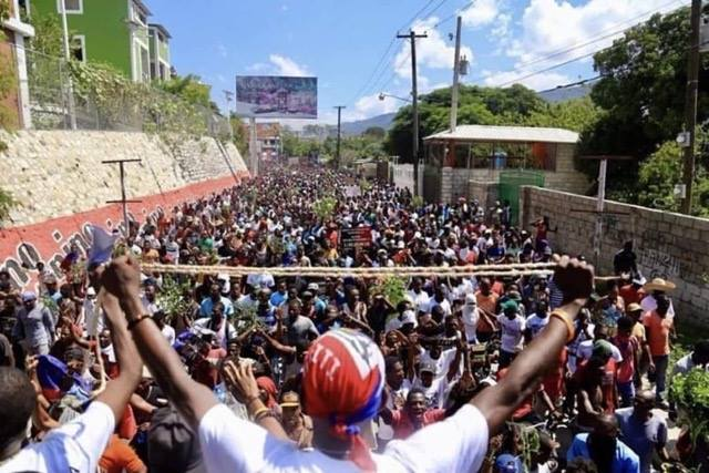 Demonstration in Haiti