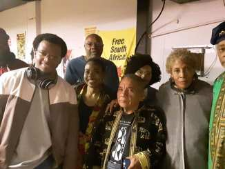 omas Fernandez Robaina and Gisela Arandia with others in Detroit