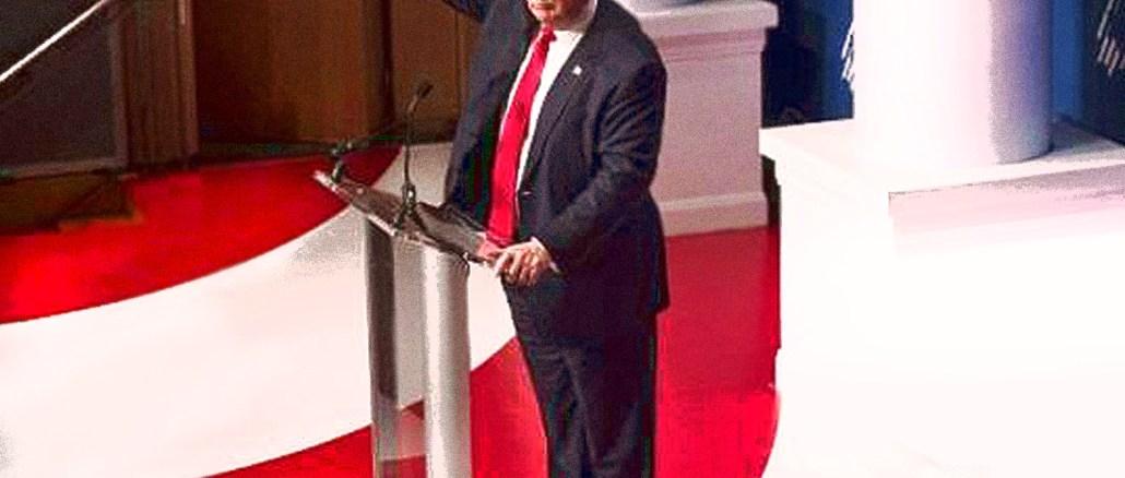 Trump giving fascist-style salute