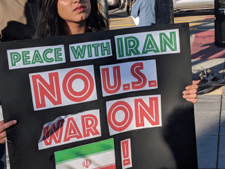 Protester demands U.S. War on Iran, June 25, 2019. | Photo: Terri Kay