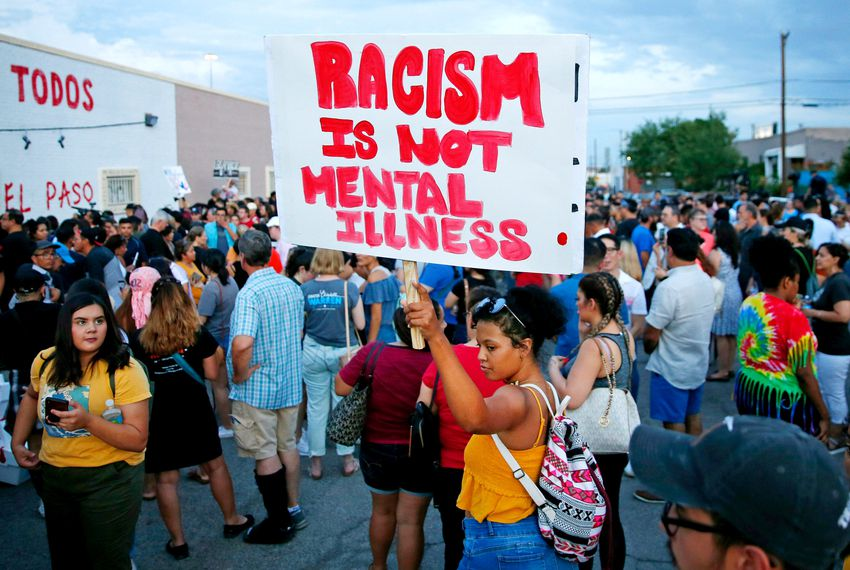 El Paso people hold march the day after the shooting,