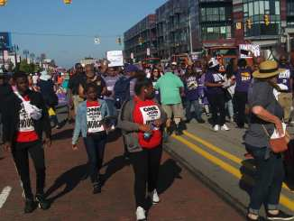 Detroit Annual Labor Day Parade where thousands of organized workers marched down Michigan Avenue, Mon. Sept. 2, 2019
