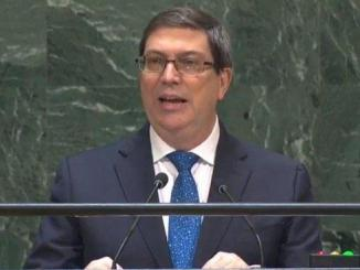Cuban Foreign Minister Bruno Rodríguez Parrilla at UN on Sept 28 2019