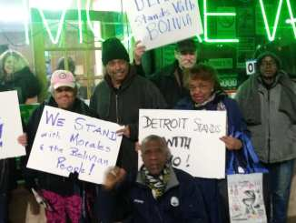 Detroit Moratorium NOW! Coalition-MECAWI Weekly Organizing Meeting solidarity action with Bolivia,Mon. Nov. 11 2019
