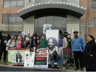 Mumia supporters at Dept of Corrections