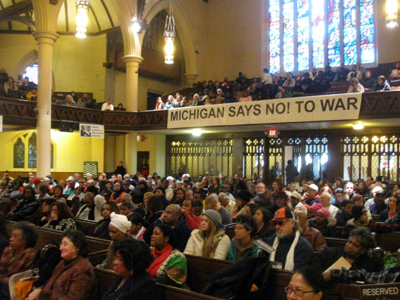 Detroit MLK Day Rally during January 2012