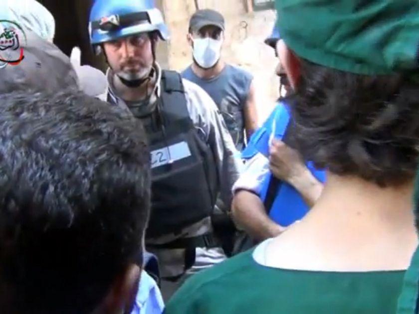 UN inspectors in Syria in 2013