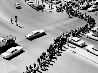 Nashville mass demonstration in April 1960 led by Diane Nash and John Lewis