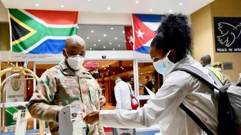 Cuban healthcare workers arriving in South Africa