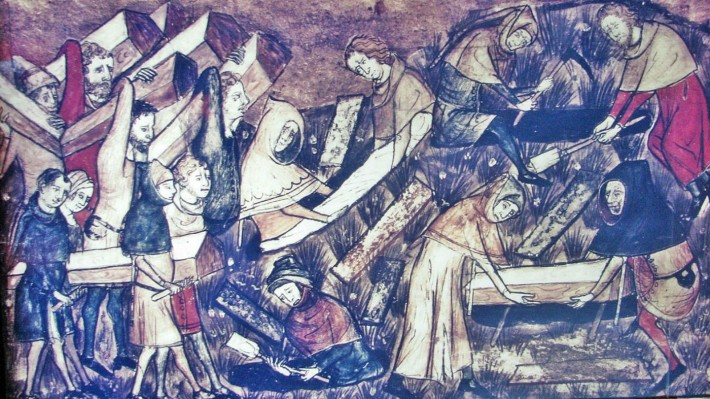 Black Death pandemic during the 14th Century an artistic depiction