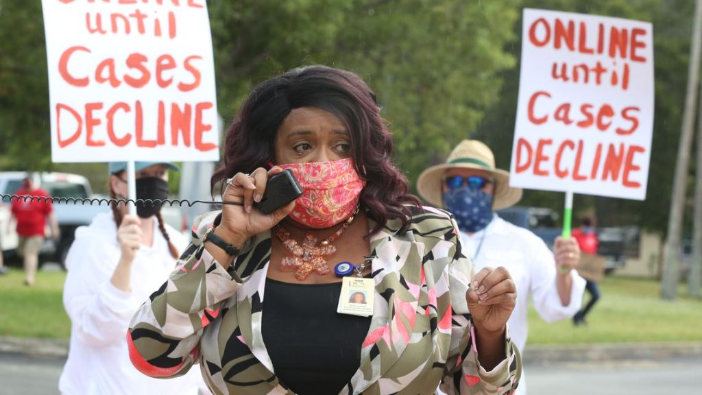 Tampa demonstration against school reopening amid COVID-19 pandemic