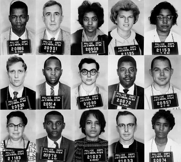 Freedom Riders mugshots in 1961