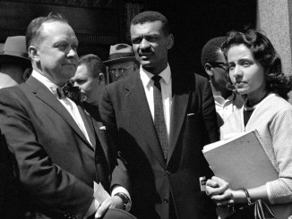 Nashville Mayor West with C.T. Vivian and Diane Nash in 1960