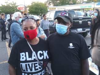 March against racist attacks in Warren victims the Hall family