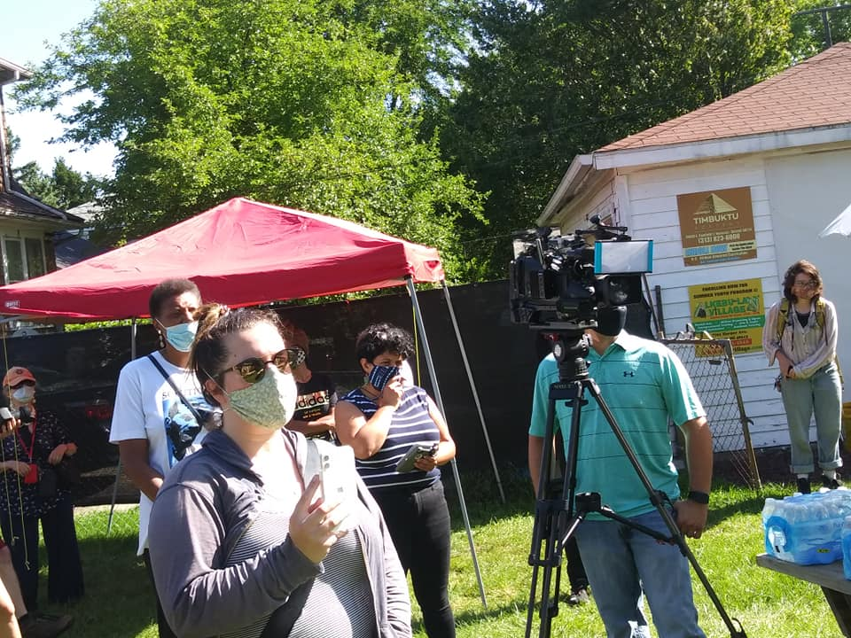 Press conference on police brutality where all major mediat outlets in Detroit were present (Photo by Abayomi Azikiwe)
