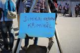 Students in #Haiti protest outside of the French Embassy.