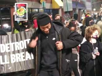 Night March on Nov. 13, 2020 demands police chief resigns in Detroit