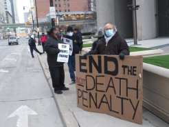 Detroit demonstration against the federal executions organized by Moratorium NOW! Coalition