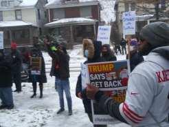 Detroit demonstration defends Michigan Rep. Cynthia A. Johnson