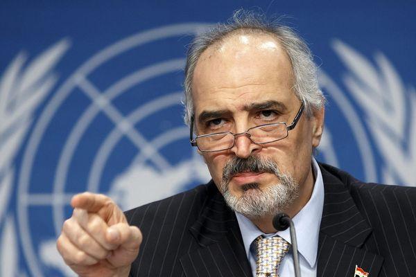 Syria's U.N. Representative Bashar al-Jaafari