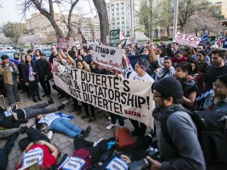 April 21, 2019 protest outside Philippine Embassy in Washington, D.C.