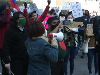 Demonstration against anti-Asian attacks through downtown Detroit on March 27, 2021