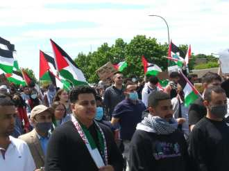Free Palestine demonstration attracted a multigenerational crowd on May 16, 2021