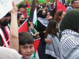 Free Palestine demostration fills the streets and closes down traffic in Dearborn on May 16, 2021