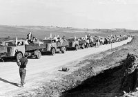 Palestinian refugees in flee in the aftermath of the 1948 war