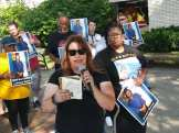 Black Autistic Lives Matter rally - Hazel Park resident speaks at rally, July 21, 2021