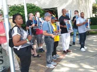 Black Autistic Lives Matter rally at Hazel Park Municipal Center, July 21, 2021