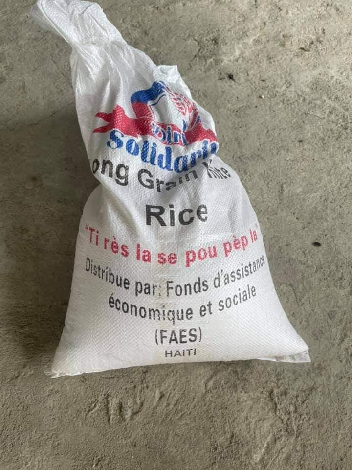 Haiti food aid being sold