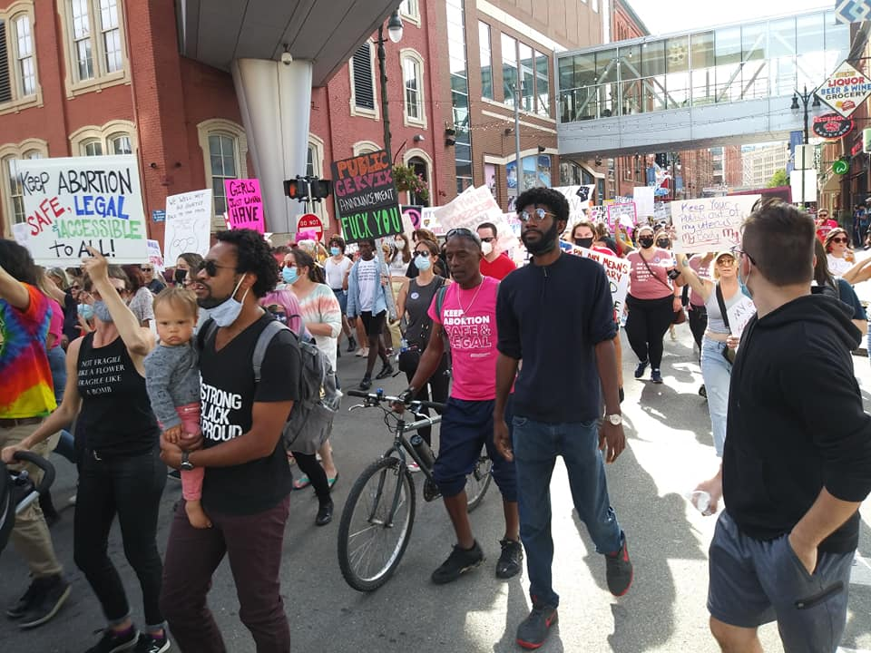 Detroit Women's March in defense of reproductive rights, Oct. 2, 2021