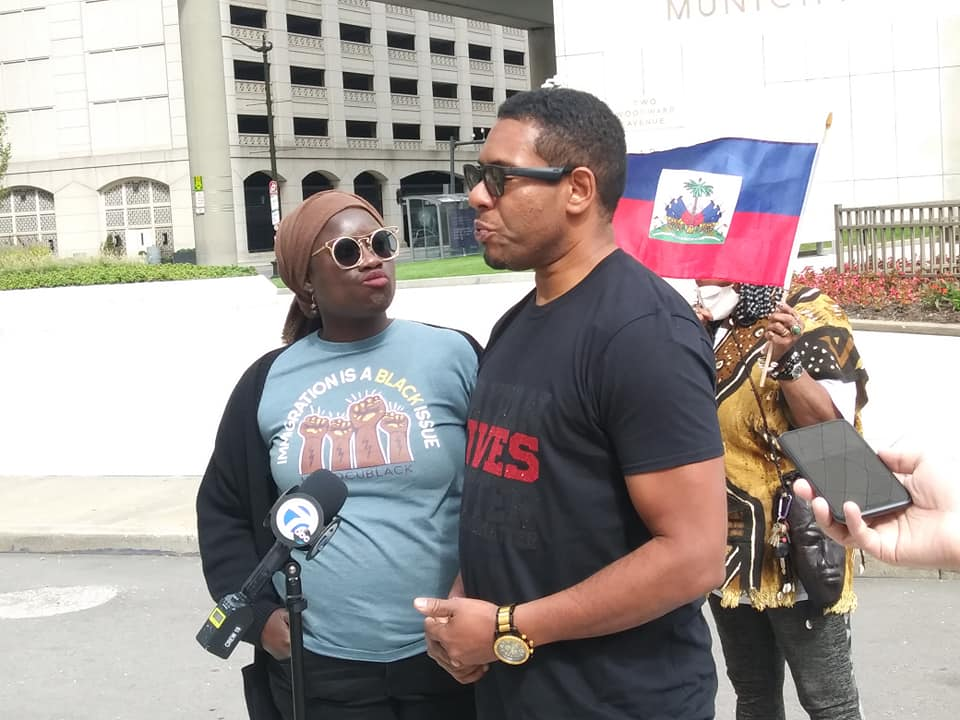 Detroit press conference in solidarity with migrants from Haiti, Sept. 26, 2021