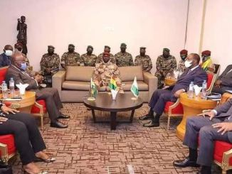 ECOWAS delegation to Guinea on Sept. 17, 2021