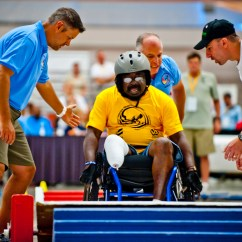 Wheelchair Fight Animal Print Office Chair Wounded Veteran Athletes Compete In Games The