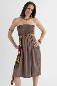 100% Cotton Tube Dress - Tea Length - OneMama