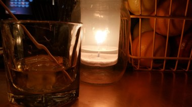 Cold wet nights = candle light and whisky