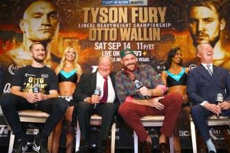 Bob Arum & Tyson Fury Frank Warren Laugh