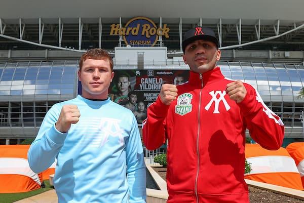 Boxing: Canelo Alvarez Vs Avni Yildirim Face Off At The Hard Rock Stadium