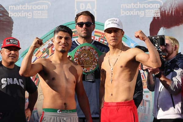 Boxing: Garcia Vs Vargas Final Weigh In