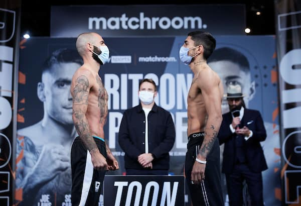 Ritson V Ponce Weigh In