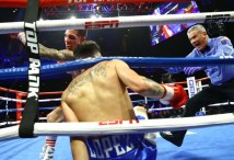 Oscar Valdez Vs Adam Lopez 2nd Knockdown