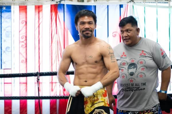 Pacquiao Media Workout 08.04.21 08 21 2021 Media Day Ryan Hafey Premier Boxing Champions