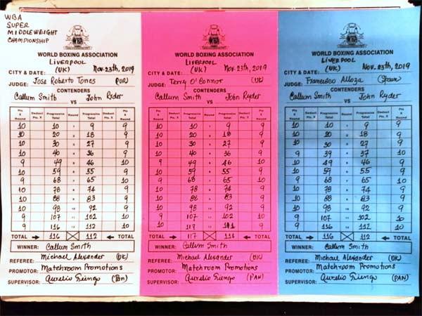 Smith Ryder Scorecard